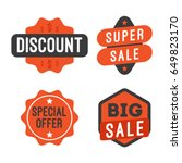 sale and discount banner and... | Shutterstock .eps vector #649823170