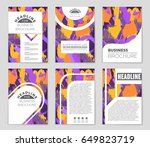 abstract vector layout... | Shutterstock .eps vector #649823719