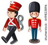 soilder toys on white... | Shutterstock .eps vector #649823896