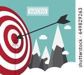 arrow hitting target. business... | Shutterstock .eps vector #649829263