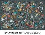 vector hand drawn doodle... | Shutterstock .eps vector #649831690