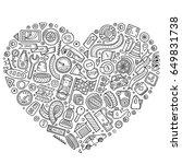 line art vector hand drawn set... | Shutterstock .eps vector #649831738
