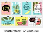 summer june greeting cards and... | Shutterstock .eps vector #649836253