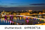 rainbow bridge in novi sad ... | Shutterstock . vector #649838716