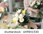 workshop florist  making... | Shutterstock . vector #649841530