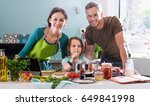 looking at camera  a cheerful... | Shutterstock . vector #649841998