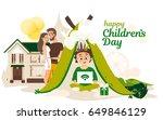 happy children's day. happy... | Shutterstock .eps vector #649846129