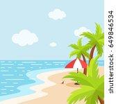 summer holiday background | Shutterstock .eps vector #649846534