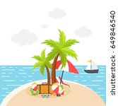 summer background  | Shutterstock .eps vector #649846540