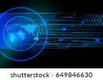 glowing screen blue elements of ...   Shutterstock .eps vector #649846630