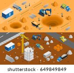 construction set of two... | Shutterstock .eps vector #649849849