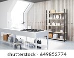 side view of an interior of an... | Shutterstock . vector #649852774