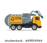 modern flat isolated garbage...   Shutterstock .eps vector #649854964
