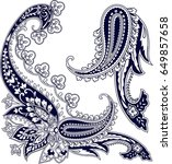 set of stylish detailed... | Shutterstock .eps vector #649857658