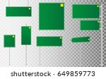 set of road signs isolated on... | Shutterstock .eps vector #649859773