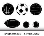sport balls   soccer  american... | Shutterstock .eps vector #649862059