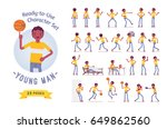 ready to use character set.... | Shutterstock .eps vector #649862560