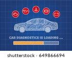 car diagnostics loading bar... | Shutterstock .eps vector #649866694