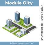 city isometric of urban... | Shutterstock .eps vector #649871014