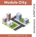 city isometric of urban... | Shutterstock .eps vector #649871416