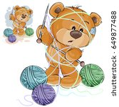 vector illustration of a brown... | Shutterstock .eps vector #649877488