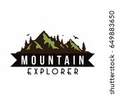 mountain explorer adventure... | Shutterstock .eps vector #649883650