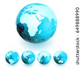 a large globe and four small... | Shutterstock .eps vector #649888990