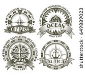 Set Of Vintage Compasses With ...