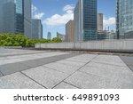 empty brick floor with... | Shutterstock . vector #649891093