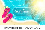 sea vacation. summer background.... | Shutterstock .eps vector #649896778
