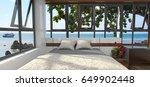 luxury bedroom in minimalist... | Shutterstock . vector #649902448