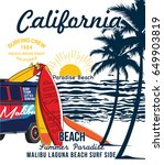 california surf typography for... | Shutterstock .eps vector #649903819