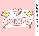 vector spring illustration of... | Shutterstock .eps vector #649904740