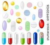 pills set gradient mesh  vector ... | Shutterstock .eps vector #649920436