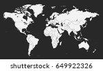 world map vector. | Shutterstock .eps vector #649922326