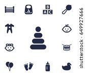 set of 13 baby icons set... | Shutterstock .eps vector #649927666
