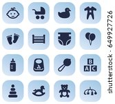 set of 16 child icons set... | Shutterstock .eps vector #649927726