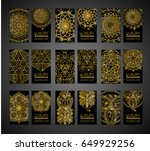 vector vintage business cards... | Shutterstock .eps vector #649929256