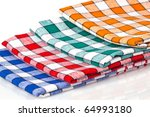 Colored Kitchen Towels Isolate...