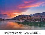 dusk time at rishikesh  holy...   Shutterstock . vector #649938010