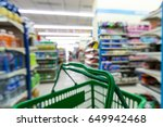 empty shopping basket in the... | Shutterstock . vector #649942468