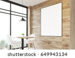 close up of a light wooden cafe ... | Shutterstock . vector #649943134