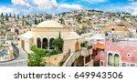 Nazareth city panoramic view. Mary of Nazareth Center. Israel
