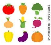 vegetable icon set. pepper ...   Shutterstock . vector #649946068