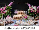the wedding composition of... | Shutterstock . vector #649946164