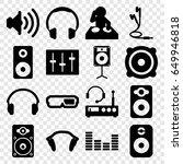 stereo icons set. set of 16...   Shutterstock .eps vector #649946818