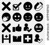 positive icons set. set of 16... | Shutterstock .eps vector #649948960