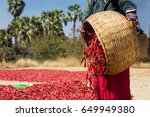 close up of worker picking up... | Shutterstock . vector #649949380