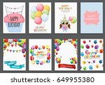 happy birthday  holiday ... | Shutterstock .eps vector #649955380