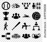 team icons set. set of 16 team... | Shutterstock .eps vector #649958008